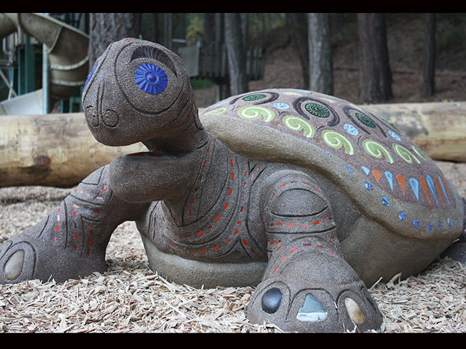 turtle mosaic sculpture public art tile cement cantrall buckley park playground applegate jacksonville oregon jeremy criswell