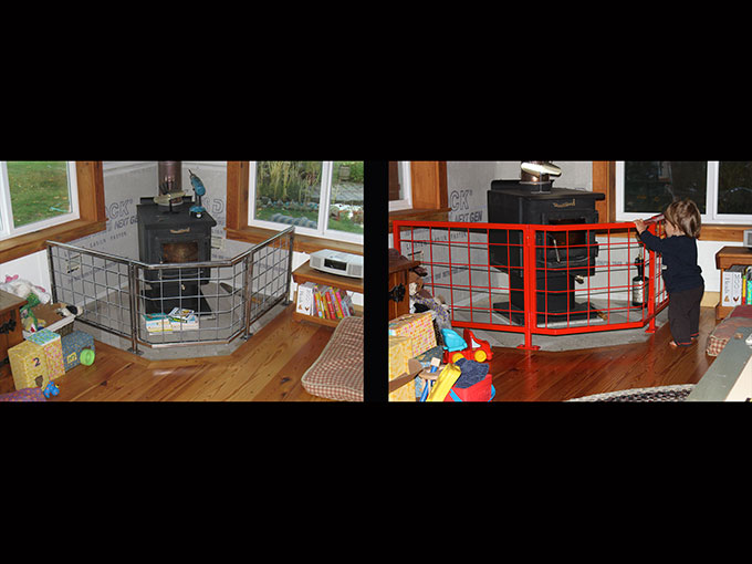 fireplace gate welding safety woodstove childproofing babygate fabrication custom jacksonville oregon jeremy criswell